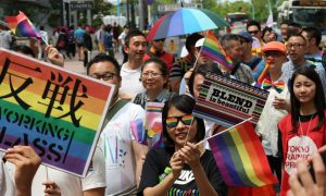 LGBT parade in Tokyo has the most participants.